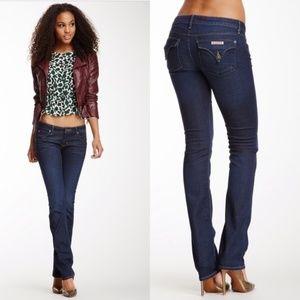 Hudson Carly Flap Straight Leg Jeans